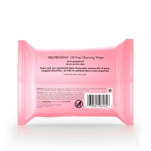 Neutrogena Oil-Free Facial Cleansing Wipes with Pink Grapefruit 25 ct.