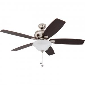 52″ Honeywell Elston Ceiling Fan with LED, Satin Nickel