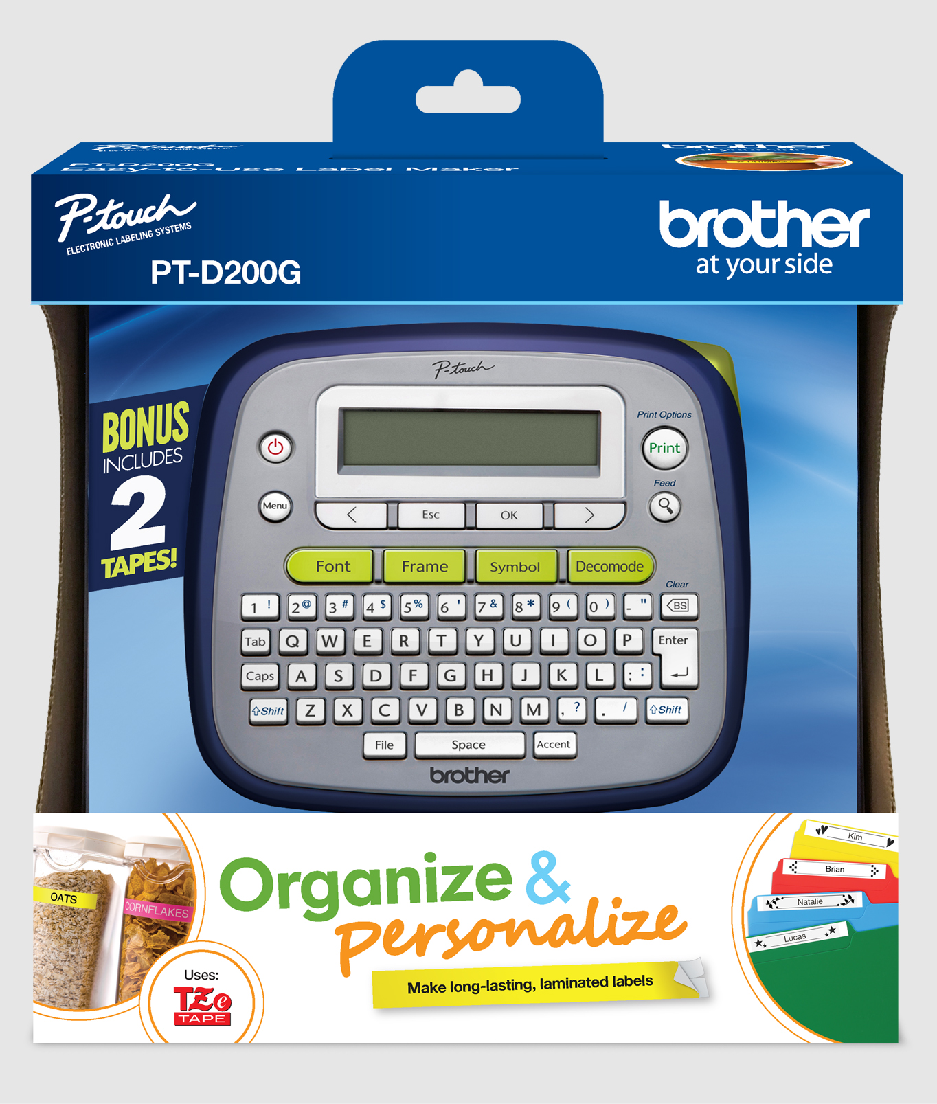 Pt D200g Easy To Use Brother P Touch Label Maker Rocshop
