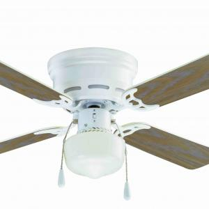 42″ Mainstays Hugger Indoor Ceiling Fan with Light, White