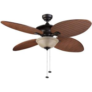 52″ Honeywell Sunset Key Tropical Ceiling Fan, Bronze