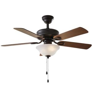 42″ Chapter Ceiling Fan, Bowl Light, Bronze