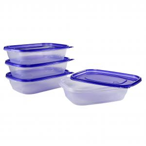 Great Value Take Outs Storage Containers with Lids, BPA Free, 32 fl oz, 4 Count
