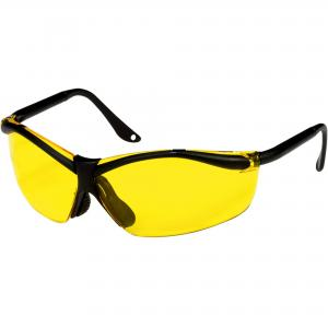 3M Sports-Inspired Safety Eyewear, Semi-Rimless Design, Yellow Lenses
