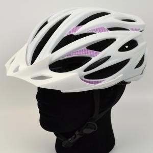 "Zefal ""Pro Race"" White/Purple Cycling Helmet with 24 Large Vents"