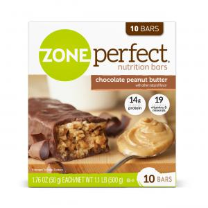ZonePerfect Nutrition Bar, Chocolate Peanut Butter, 14g Protein, 10 Ct