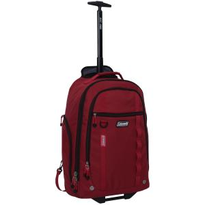 22 Rolling Travel Backpack w/ Telescopic Handle, Red
