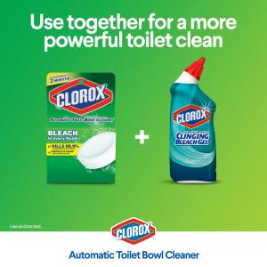 Clorox Automatic Toilet Bowl Cleaner Tablets with Bleach – 4 ct