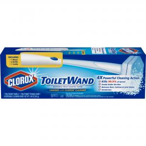 Clorox ToiletWand Disposable Toilet Cleaning System – ToiletWand, Storage Caddy and 6 Disinfecting ToiletWand Refill Heads