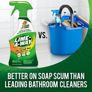 Lime-A-Way Bathroom Cleaner, 32oz Bottle, Removes Lime Calcium Rust