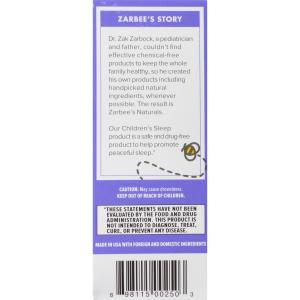 Zarbee's Naturals Children's Sleep Chewable Tablet with Melatonin , Natural Grape Flavor, 30 Count (1 Box)