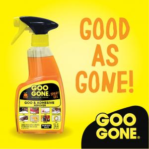 Goo Gone Original Spray Gel – Removes Chewing Gum, Grease, Tar, Stickers, Labels, Tape Residue, Oil, Blood, Lipstick, Mascara, Shoe polish, Crayon, etc. – 12 fl. oz.