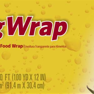 Glad ClingWrap Plastic Food Wrap – 300 Square Foot Roll