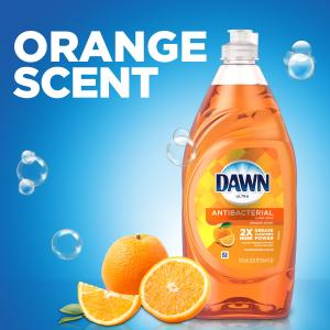 Dawn Ultra Antibacterial Hand Soap, Dishwashing Liquid Dish Soap, Orange Scent, 28 fl oz