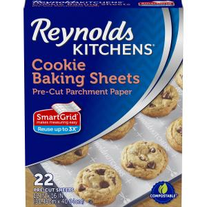 Reynolds Kitchens Pre-Cut Parchment Paper Baking Sheets, 12×16 Inch, 22 Count