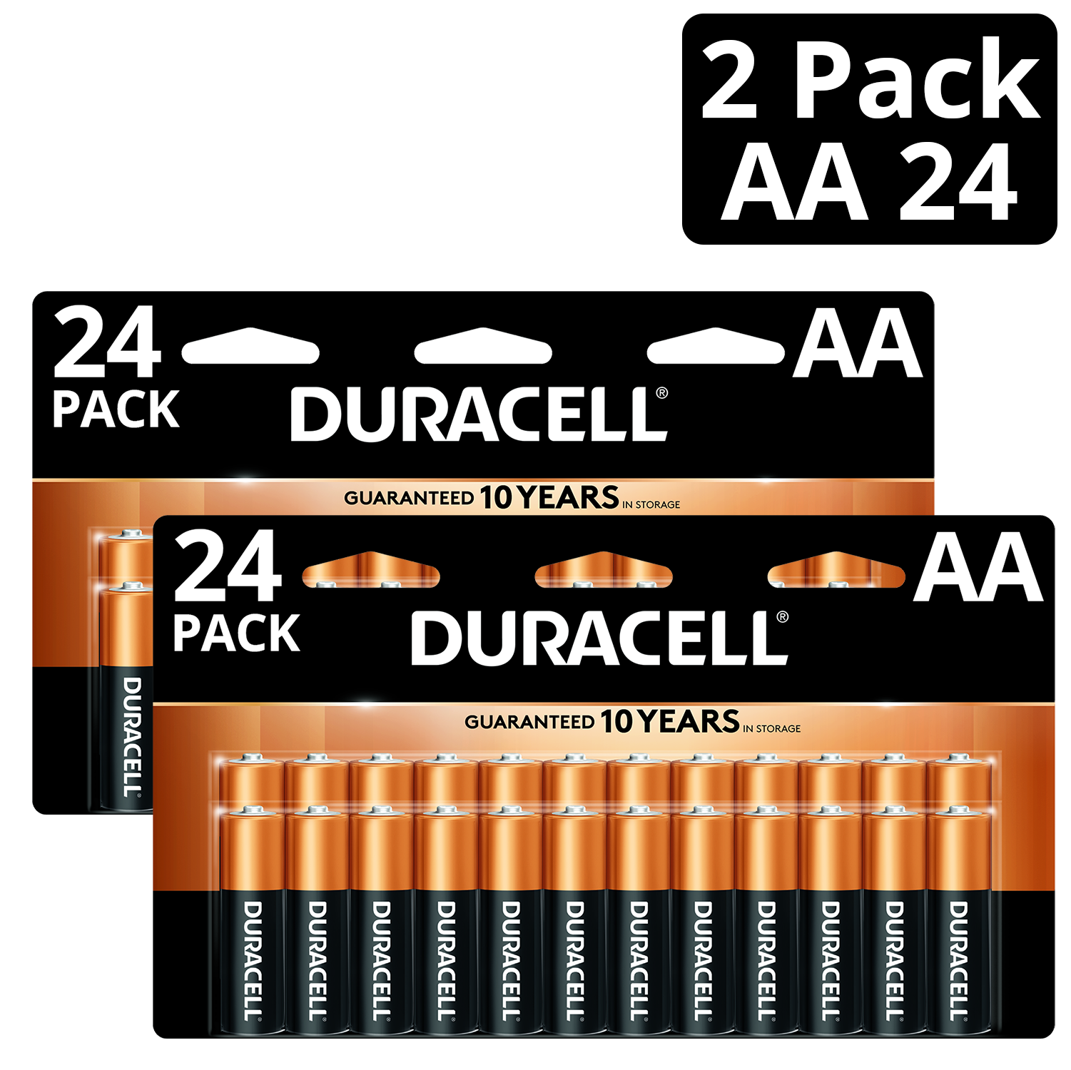 Duracell 1.5V Coppertop Alkaline AA Batteries 24 Pack