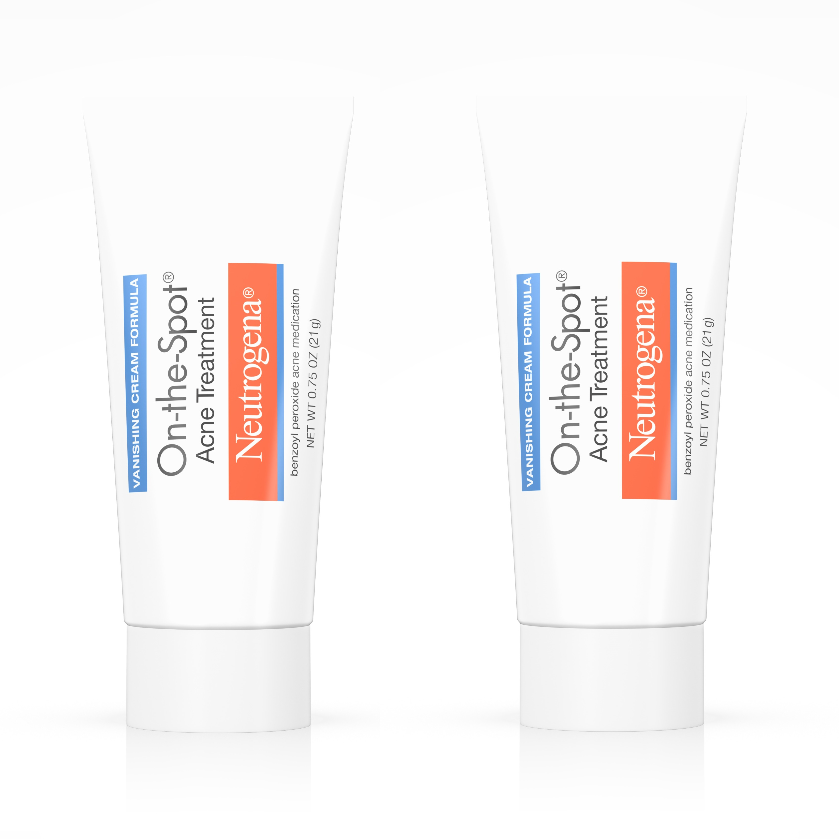 (2 Pack) Neutrogena On-The-Spot Acne Treatment with Benzoyl Peroxide, 0.75 oz