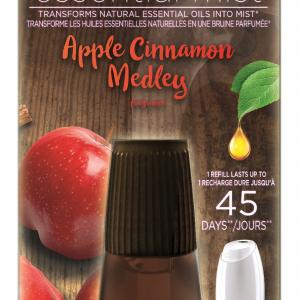 Air Wick Essential Mist, Fall Scent Essential Oils Diffuser Refill, Apple & Cinnamon, 1ct, Air Freshener, Fall décor