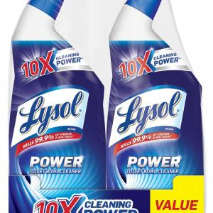 Lysol Toilet Bowl Cleaner, Power, 10X Cleaning Power, 48oz (2x24oz)
