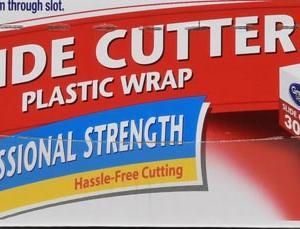 Great Value Slide Cutter Plastic Wrap, Clear, 300 sq ft