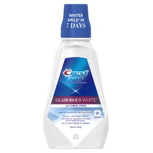 Crest 3D White Glamorous White Alcohol Free Multi-Care Whitening Mouthwash, Fresh Mint, 16 fl oz (473 mL)