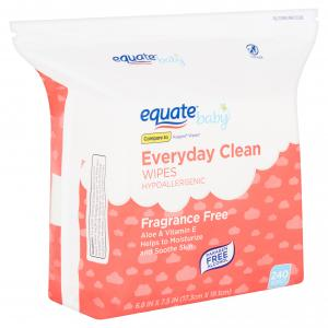 Equate Baby Everyday Clean Fragrance Free Wipes, 240 count