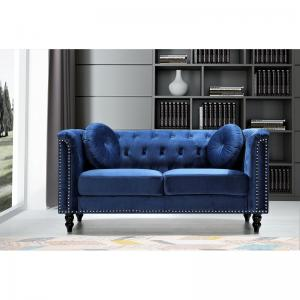 Whetzel Chesterfield 64″ Rolled Arms Loveseat