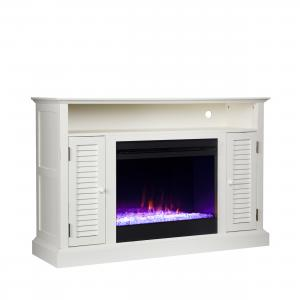 Wiltshire Color Changing Media Fireplace w/ Storage