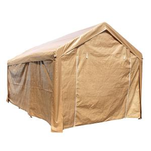 ALEKO 10′ x 20′ Steel Frame with PVC Removable Walls Canopy Carport Tent, Heavy Duty, Beige Color
