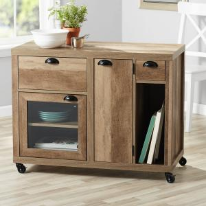Better Homes & Gardens Lucy Kitchen Cart, Weathered Wood