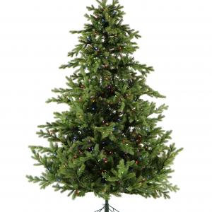 Fraser Hill Farm 9-Ft. Foxtail Pine Artificial Christmas Tree with Multi-Color LED Lighting