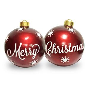 2pc Red and White Shatterproof Shiny Christmas Ball ornaments 26″ (660)
