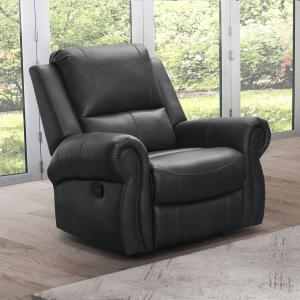 Devon & Claire Bell Leather Recliner, Gray