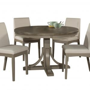 Hillsdale Furniture Clarion 5-Piece Round Dining Set with Upholstered Chairs