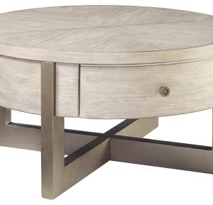 Signature Design by Ashley Urlander Whitewash Round Lift Top Cocktail Table