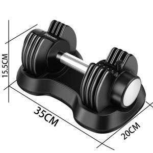 Adjustable Dumbbell 25 lbs with Fast Automatic Adjustable and Weight Plate for Body Workout Home Gym (SINGLE)