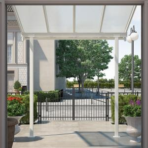 Palram Sierra Patio/Door Cover, 8′ x 8′, White/Clear