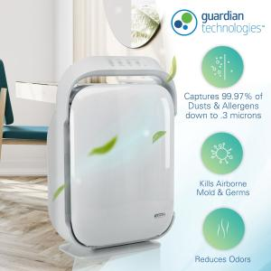 GermGuardian Air Purifier with True HEPA Filter and UV-C Sanitizer, AC9200WCA Large Console