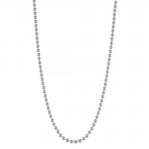14k white gold 18″ ball chain necklace