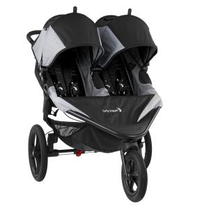 Baby Jogger Summit X3 Double Jogging Stroller, Black and Gray