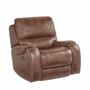HomeFare Swivel Glider Recliner in Mesquite Brown