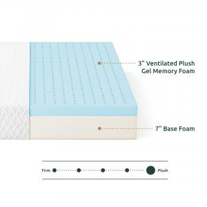 Rest Haven 10 Inch Medium Plush Gel Memory Foam Mattress; Multiple Sizes