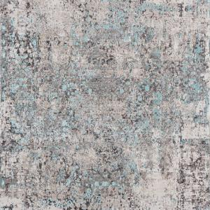 128″ x 169″ x 0.2″ Turquoise Polyester Rug