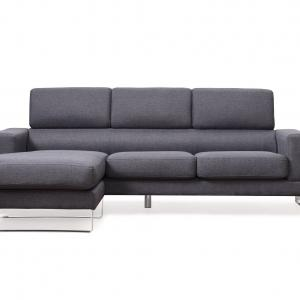 US Pride Furniture Modern Fabric Upholstered 2-Pc Configurable Left or Right Facing Sectional Sofa