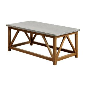 Furniture of America Josey Industrial 3-Piece Coffee Table Set, Natural