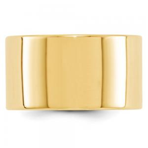 14k Yellow Gold 12mm Engravable Flat Band