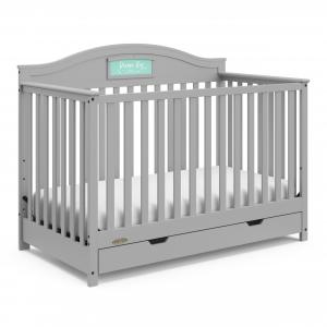 Graco Story Crib with Drawer and Reversible Headboard Pebble Gray