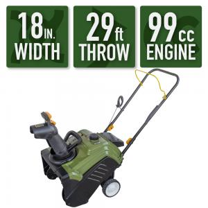 Sportsman Series SSGSB99 18 in. Single Stage Gas Powered Snow Blower, 2.4 HP Horse Power, 99cc