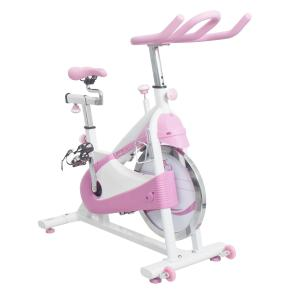 Sunny Health & Fitness P8150 Pink Belt Drive Premium Indoor Cycling Trainer Exercise Bike