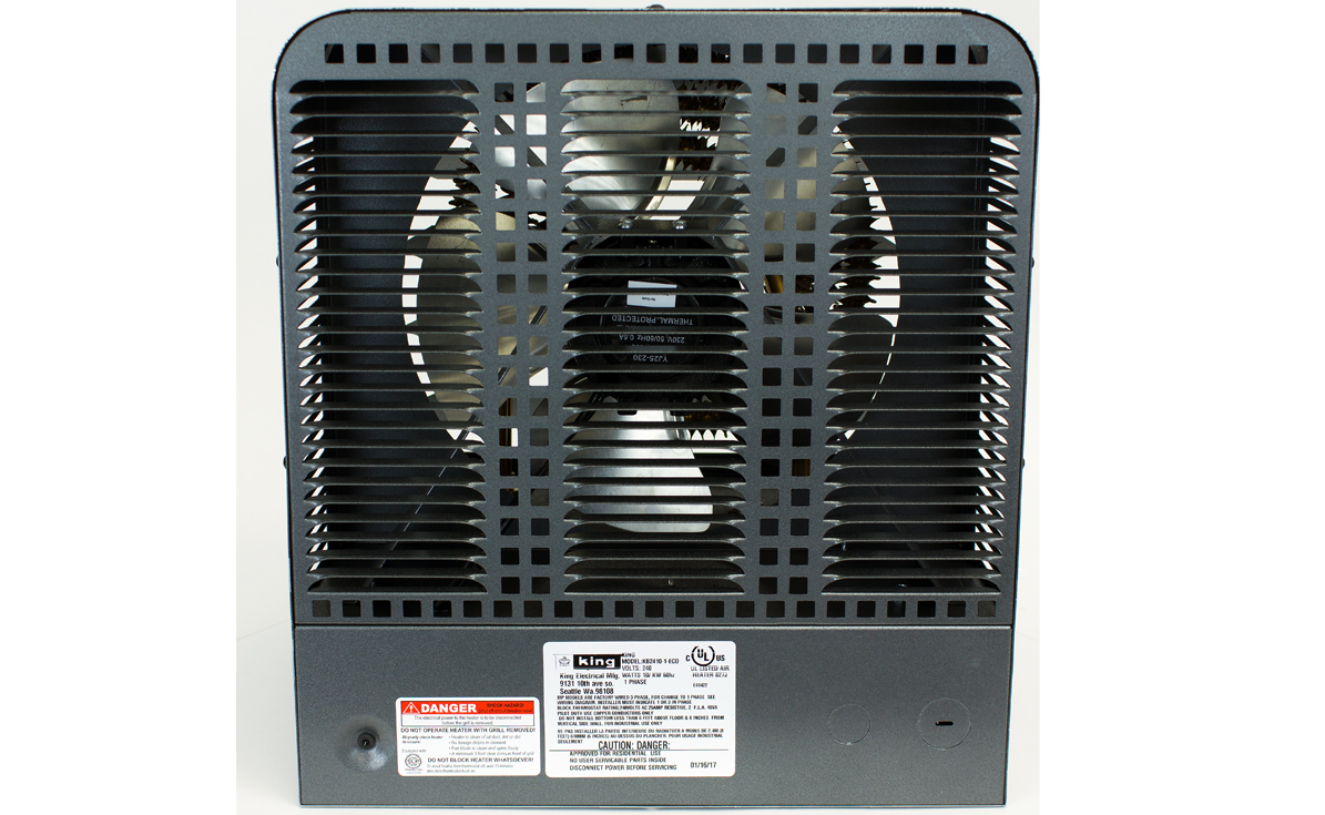 King Electric 2-Stage Garage Heater, 7.5KW / 240V, Gray, KB2407-1-B2-ECO